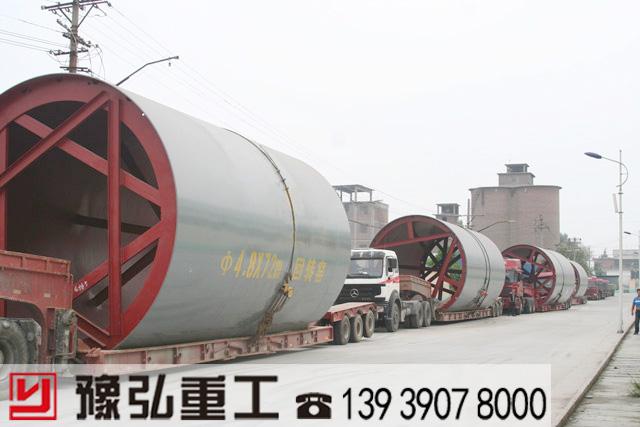4.8*72米石灰生产线发货